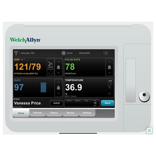 Welch Allyn Connex® VSM 6000 Patient Monitor Screen Simulation for REALITi360, 8000977, Betegmonitor Szimuláció